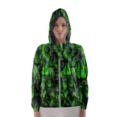 The Leaves Plants Hwalyeob Nature Hooded Wind Breaker (women) by Nexatart