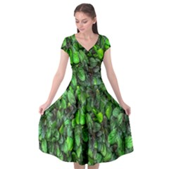 The Leaves Plants Hwalyeob Nature Cap Sleeve Wrap Front Dress by Nexatart