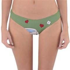 Cute Tea Reversible Hipster Bikini Bottoms by Valentinaart