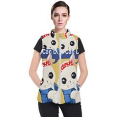 Feminist Cat Women s Puffer Vest by Valentinaart