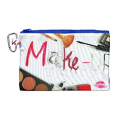 Makeup  Canvas Cosmetic Bag (large) by julissadesigns