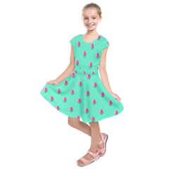 Love Heart Set Seamless Pattern Kids  Short Sleeve Dress by Nexatart