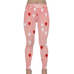 Heart Shape Background Love Classic Yoga Leggings by Nexatart