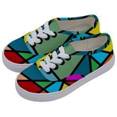 Modern Abstract Kids  Classic Low Top Sneakers by vwdigitalpainting