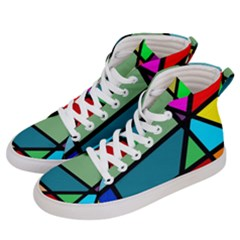Modern Abstract Women s Hi Top Skate Sneakers by vwdigitalpainting