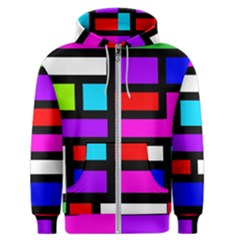 Dutch Modern Abstract Men s Zipper Hoodie by vwdigitalpainting