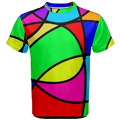 Abstract Curves Men s Cotton Tee by vwdigitalpainting