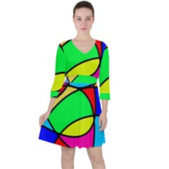 Abstract Curves Ruffle Dress by vwdigitalpainting