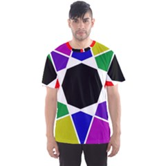 Compass Abstract Men s Sports Mesh Tee by vwdigitalpainting