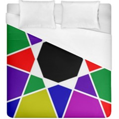 Compass Abstract Duvet Cover (king Size) by vwdigitalpainting