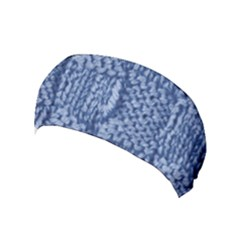 Knitted Wool Square Blue Yoga Headband by snowwhitegirl