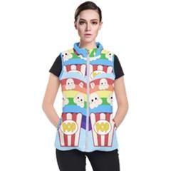 Cute Kawaii Popcorn Women s Puffer Vest