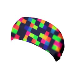 Squares Yoga Headband by dawnsiegler