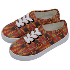 Geometric Extravaganza Pattern Kids  Classic Low Top Sneakers by linceazul