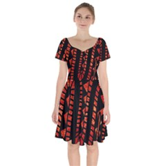 Background Abstract Red Black Short Sleeve Bardot Dress by Nexatart