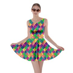 Background Geometric Triangle Skater Dress