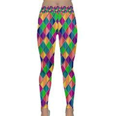 Background Geometric Triangle Classic Yoga Leggings