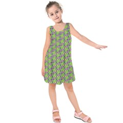 Tiger Eye Pattern 4 Kids  Sleeveless Dress