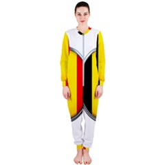 Belgium Flag Country Brussels Onepiece Jumpsuit (ladies)  by Nexatart