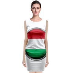 Hungary Flag Country Countries Classic Sleeveless Midi Dress by Nexatart