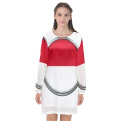 Monaco Or Indonesia Country Nation Nationality Long Sleeve Chiffon Shift Dress  by Nexatart