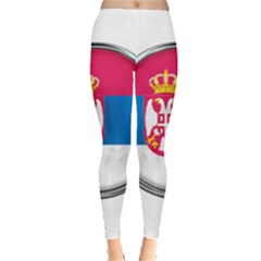 Serbia Flag Icon Europe National Leggings