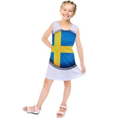 Sweden Flag Country Countries Kids  Tunic Dress by Nexatart