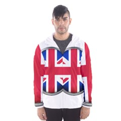 United Kingdom Country Nation Flag Hooded Wind Breaker (men)