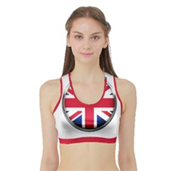 United Kingdom Country Nation Flag Sports Bra With Border