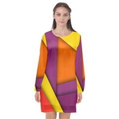 Background Abstract Long Sleeve Chiffon Shift Dress  by Nexatart