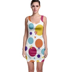 Background Polka Dot Bodycon Dress by Nexatart