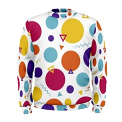 Background Polka Dot Men s Sweatshirt by Nexatart