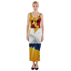 Holland Country Nation Netherlands Flag Fitted Maxi Dress