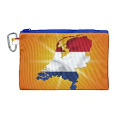 Holland Country Nation Netherlands Flag Canvas Cosmetic Bag (large) by Nexatart