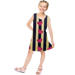 Love Heart Pattern Decoration Abstract Desktop Kids  Tunic Dress by Nexatart