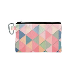 Background Geometric Triangle Canvas Cosmetic Bag (small)
