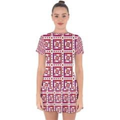 Background Abstract Square Drop Hem Mini Chiffon Dress by Nexatart