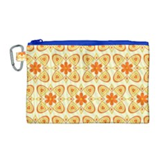 Background Floral Forms Flower Canvas Cosmetic Bag (large) by Nexatart