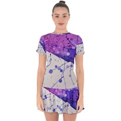 Art Painting Abstract Spots Drop Hem Mini Chiffon Dress by Nexatart