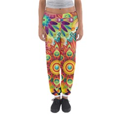Colorful Abstract Background Colorful Women s Jogger Sweatpants