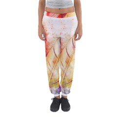 Feathers Bird Animal Art Abstract Women s Jogger Sweatpants by Nexatart