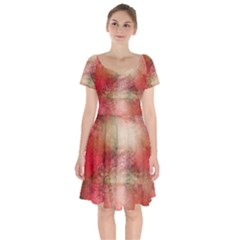 Background Art Abstract Watercolor Short Sleeve Bardot Dress by Nexatart