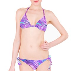 Abstract Art Texture Form Pattern Bikini Set