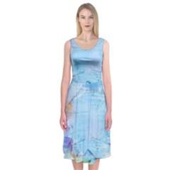 Background Art Abstract Watercolor Midi Sleeveless Dress by Nexatart