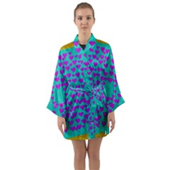 Raining Love And Hearts In The  Wonderful Sky Long Sleeve Kimono Robe by pepitasart