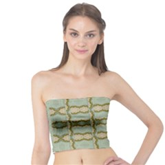 Celtic Wood Knots In Decorative Gold Tube Top by pepitasart