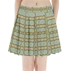 Celtic Wood Knots In Decorative Gold Pleated Mini Skirt by pepitasart