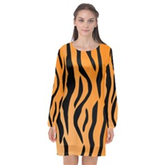 Tiger Fur 2424 100p Long Sleeve Chiffon Shift Dress  by SimplyColor