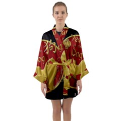 Year Of The Dog - Chinese New Year Long Sleeve Kimono Robe by Valentinaart