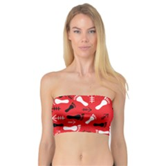Red Bandeau Top by HASHHAB